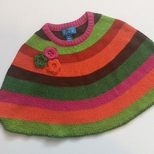 Colourful Fall Toddler Shawl * Size 18M